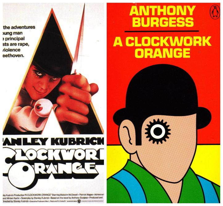 a clockwork orange, clockwork orange, kubrick, stanley kubrick, anthony burgess, book, film, adaptation, movie, cinema, novel