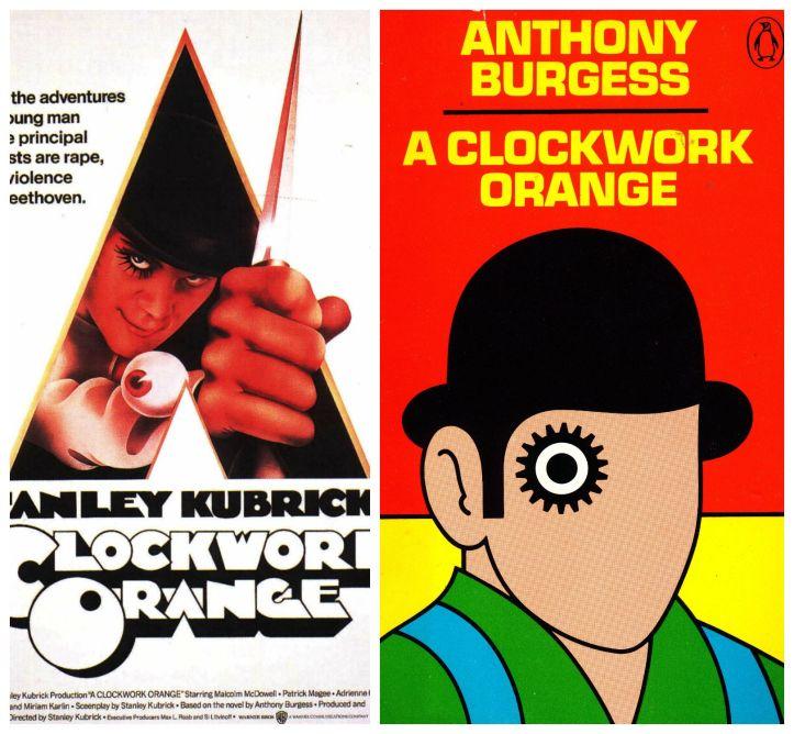 a clockwork orange, clockwork orange, kubrick, stanley kubrick, anthony burgess, book, film, adaptation, movie, cinema, novel