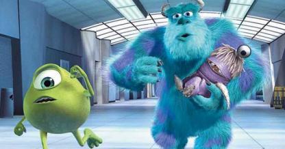 disney, disney pixar, pixar, pixar studios, animation, animated, monsters inc, mike wazowski, scully, boo, monsters, kitty